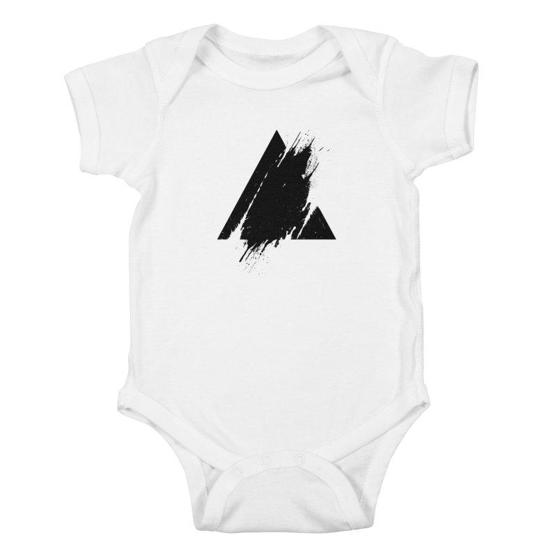 PLACE Splashed Triangle Kids Baby Bodysuit by Sitchko