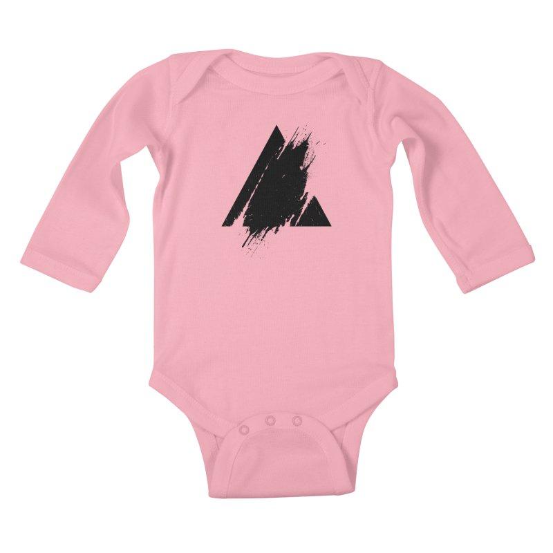 PLACE Splashed Triangle Kids Baby Longsleeve Bodysuit by Sitchko