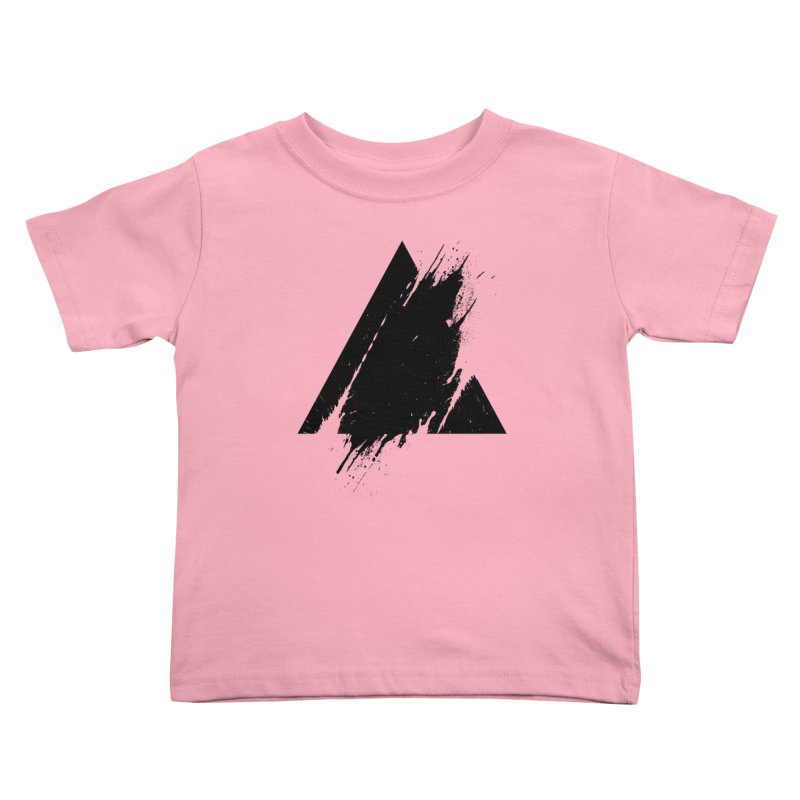PLACE Splashed Triangle Kids Toddler T-Shirt by Sitchko