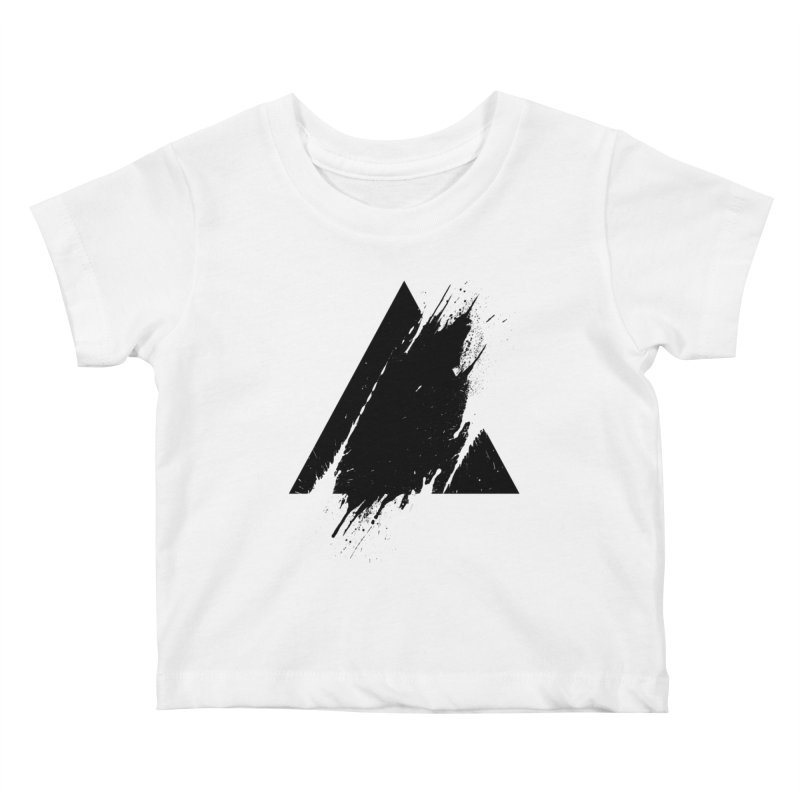 PLACE Splashed Triangle Kids Baby T-Shirt by Sitchko