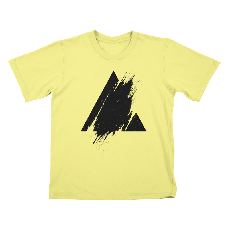 PLACE Splashed Triangle Kids T-shirt by Sitchko