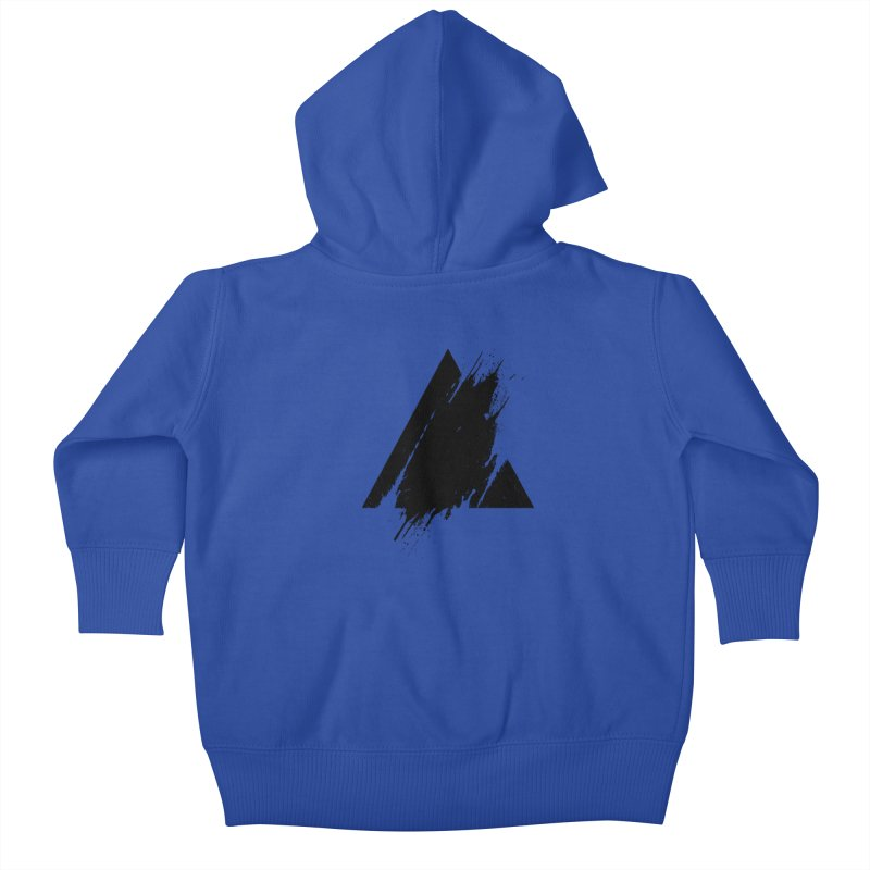 PLACE Splashed Triangle Kids Baby Zip-Up Hoody by Sitchko