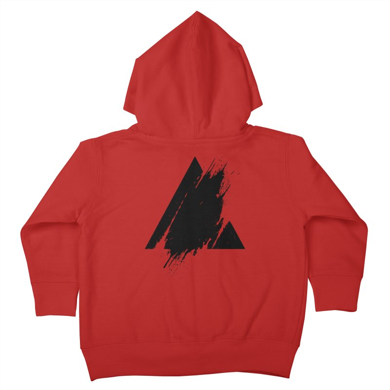 PLACE Splashed Triangle Kids Toddler Zip-Up Hoody by Sitchko