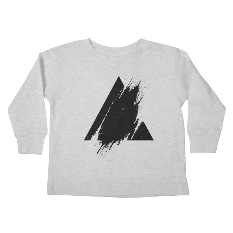 PLACE Splashed Triangle Kids Toddler Longsleeve T-Shirt by Sitchko