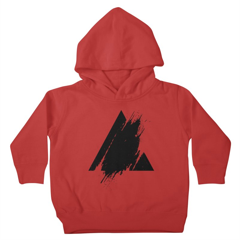 PLACE Splashed Triangle Kids Toddler Pullover Hoody by Sitchko