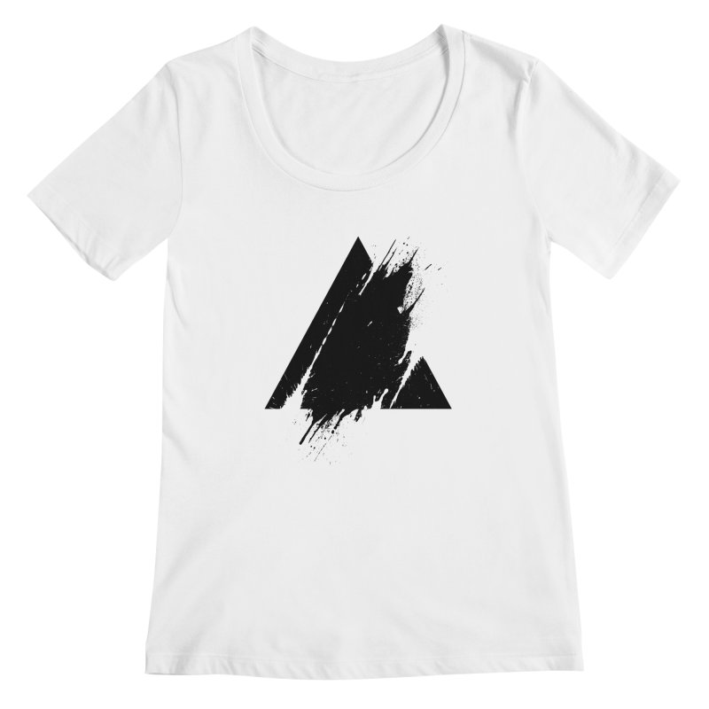 PLACE Splashed Triangle Women's Scoopneck by Sitchko