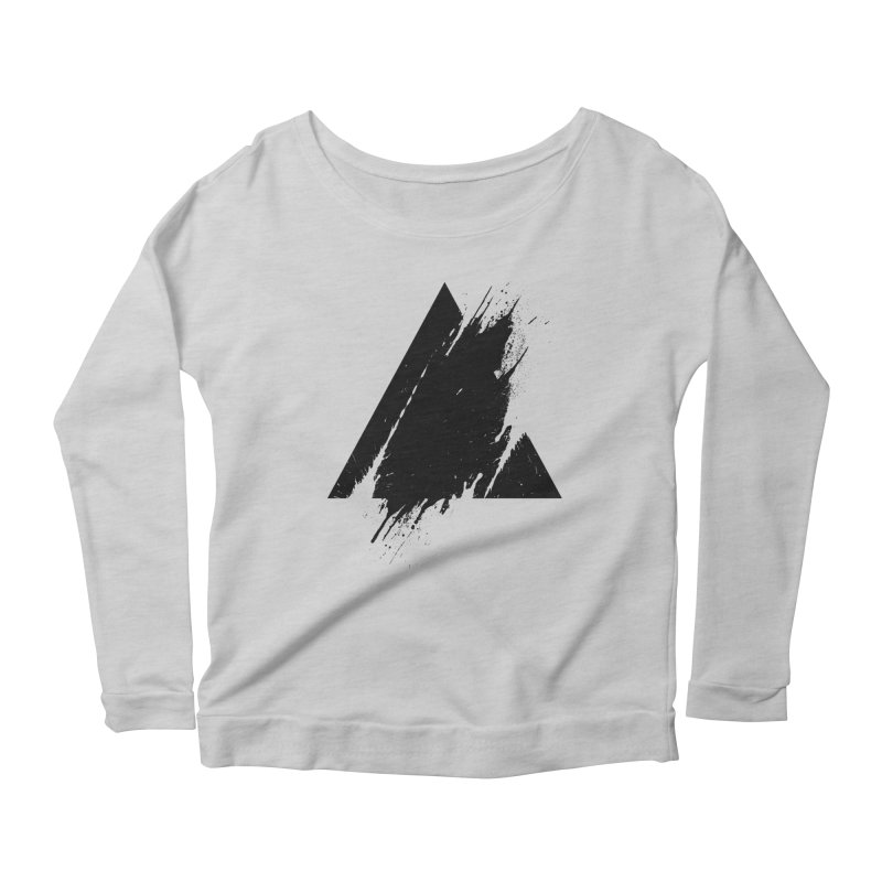 PLACE Splashed Triangle Women's Longsleeve Scoopneck  by Sitchko
