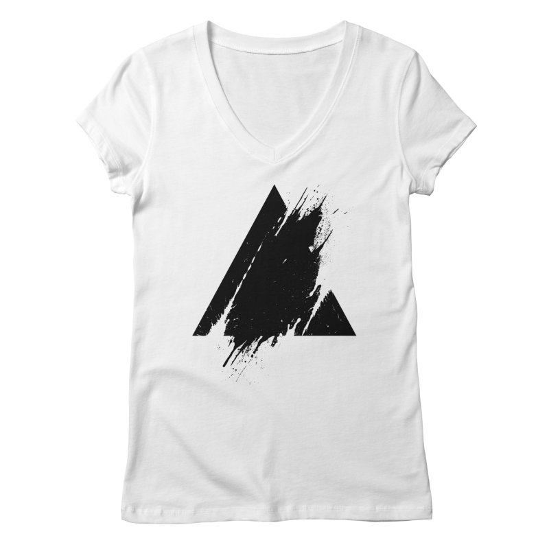 PLACE Splashed Triangle Women's V-Neck by Sitchko