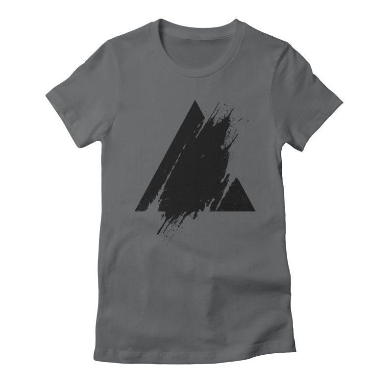 PLACE Splashed Triangle Women's Fitted T-Shirt by Sitchko