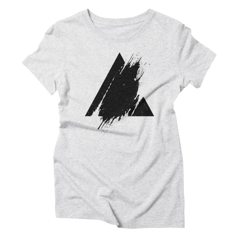 PLACE Splashed Triangle Women's Triblend T-Shirt by Sitchko