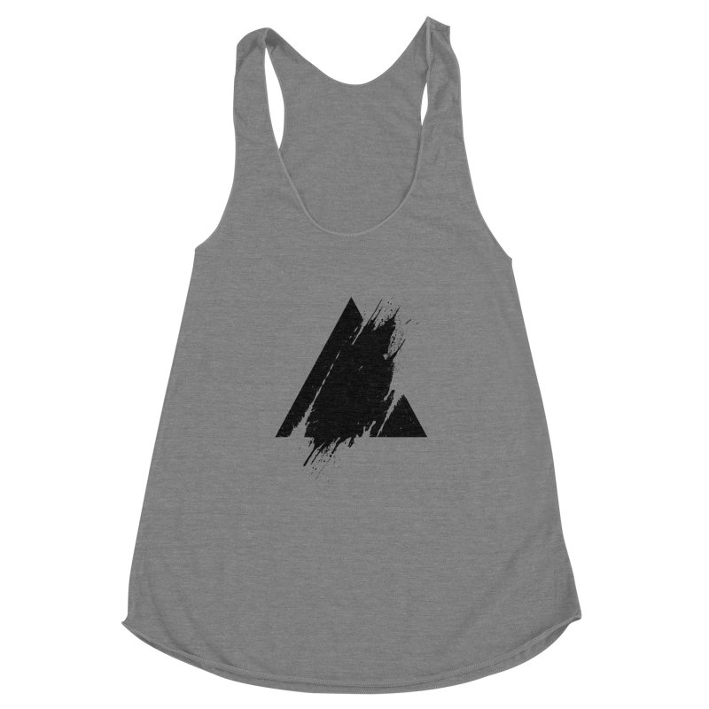 PLACE Splashed Triangle Women's Racerback Triblend Tank by Sitchko