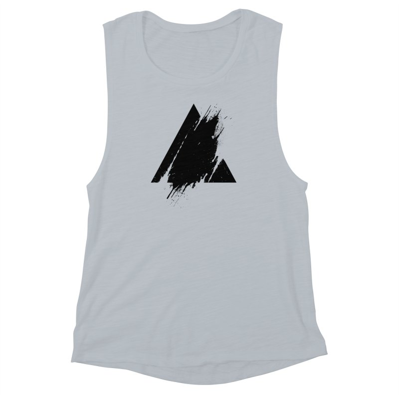 PLACE Splashed Triangle Women's Muscle Tank by Sitchko