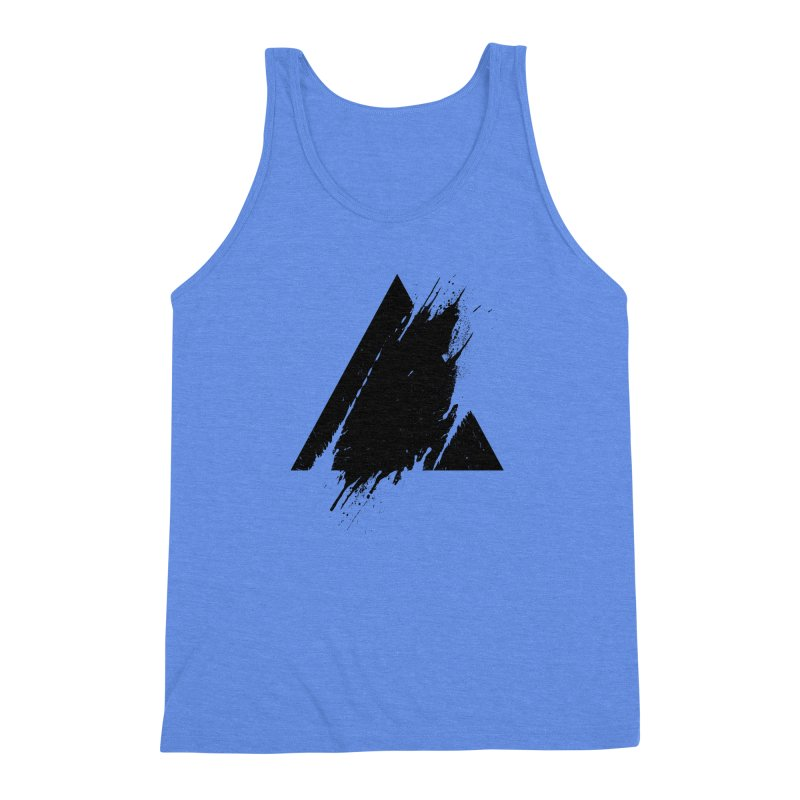 PLACE Splashed Triangle Men's Triblend Tank by Sitchko