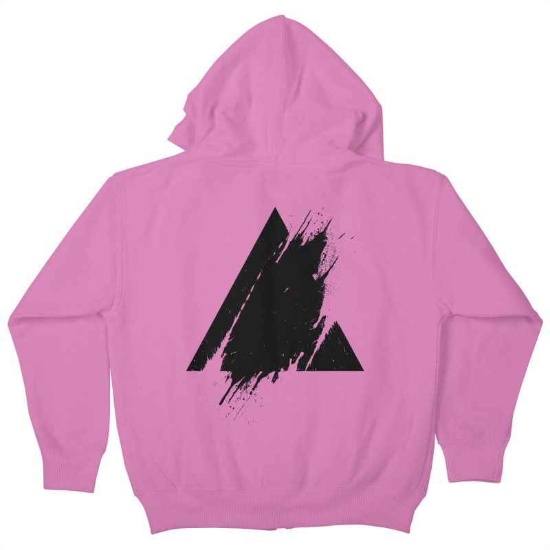 PLACE Splashed Triangle Kids Zip-Up Hoody by Sitchko