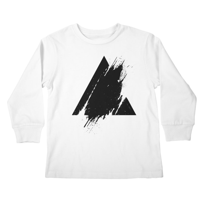 PLACE Splashed Triangle Kids Longsleeve T-Shirt by Sitchko