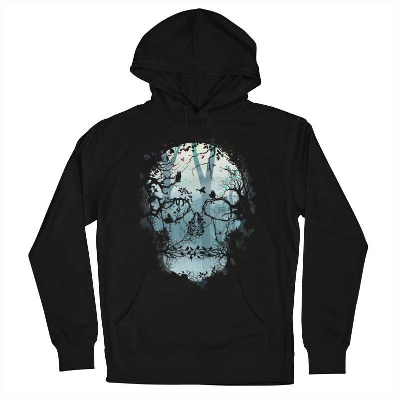Dark Forest Skull Men's Pullover Hoody by Sitchko