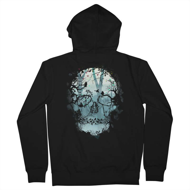 Dark Forest Skull Men's Zip-Up Hoody by Sitchko