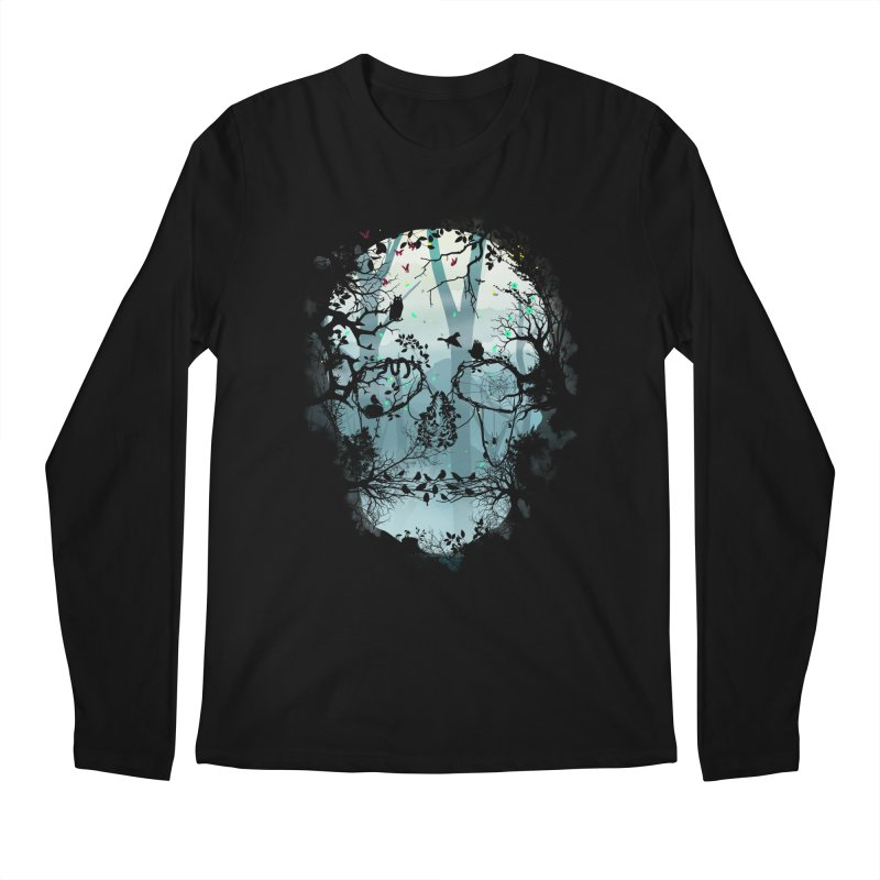 Dark Forest Skull Men's Longsleeve T-Shirt by Sitchko