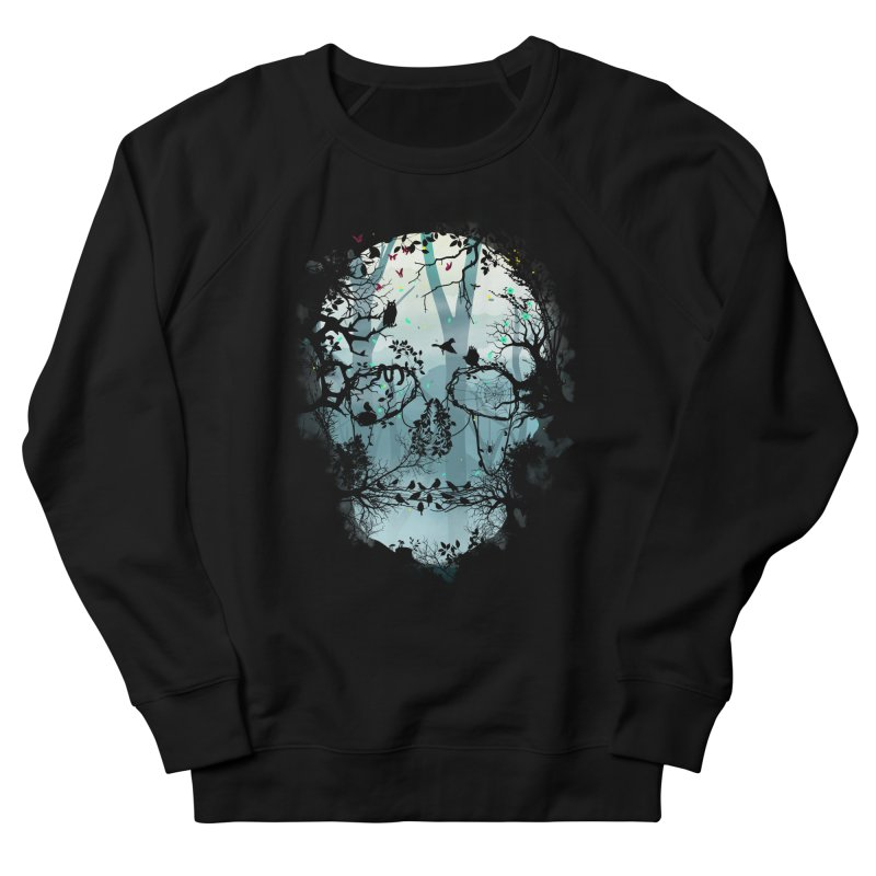 Dark Forest Skull Men's Sweatshirt by Sitchko