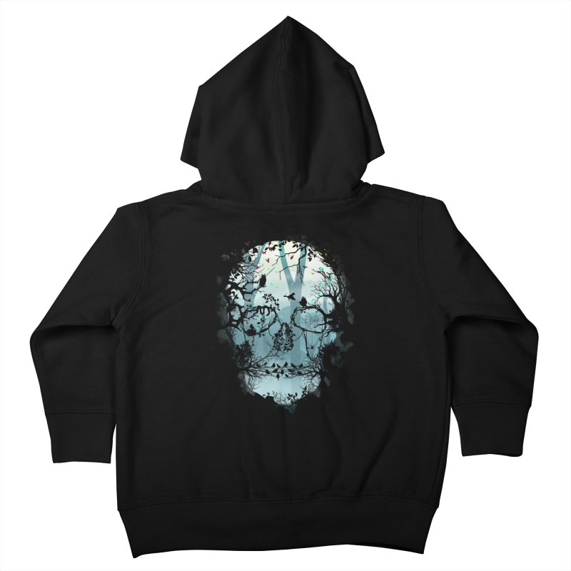 Dark Forest Skull Kids Toddler Zip-Up Hoody by Sitchko