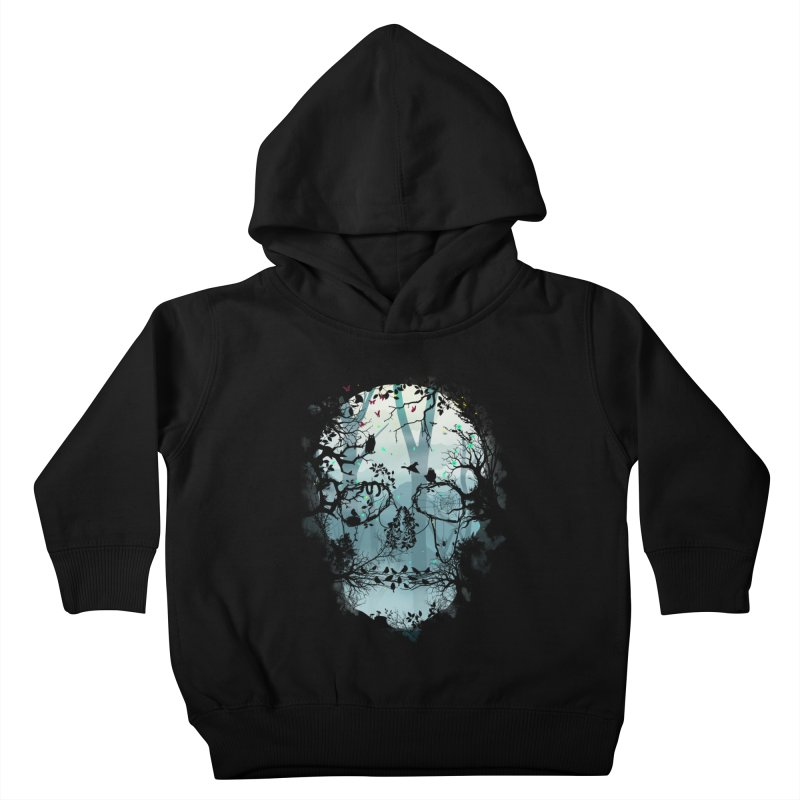 Dark Forest Skull Kids Toddler Pullover Hoody by Sitchko