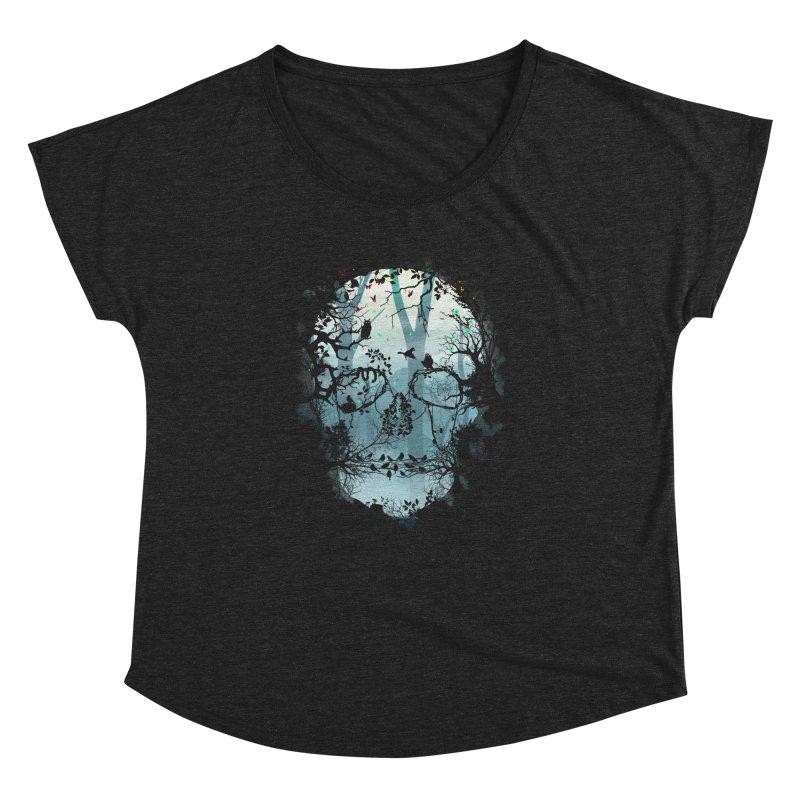 Dark Forest Skull Women's Dolman by Sitchko