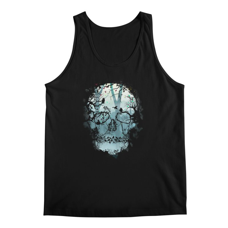 Dark Forest Skull Men's Tank by Sitchko