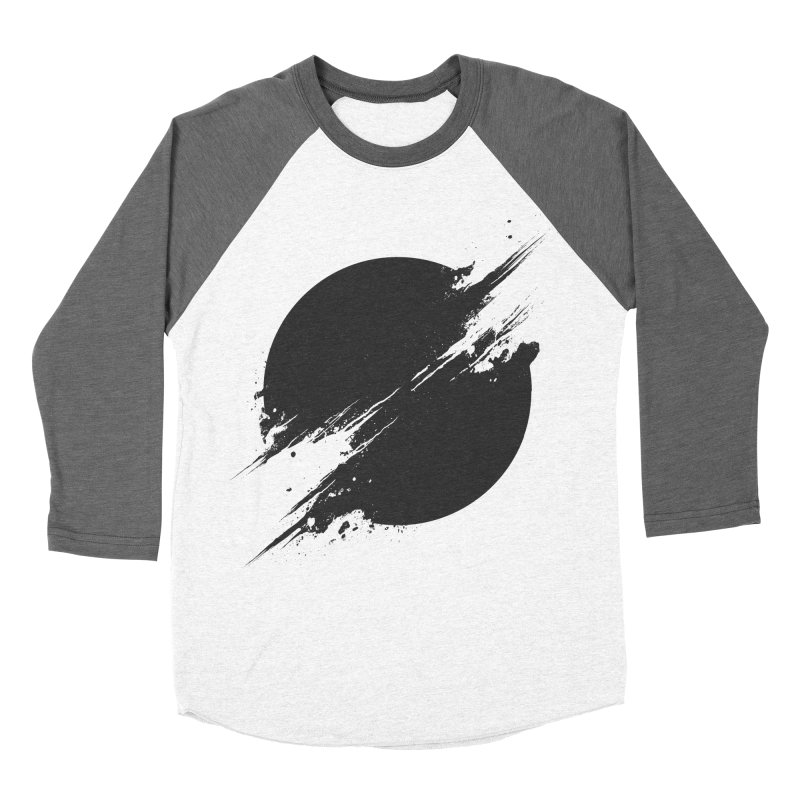 The Sun is Black Women's Baseball Triblend T-Shirt by Sitchko