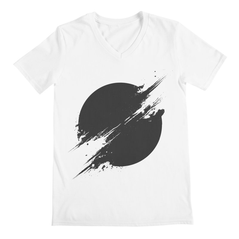 The Sun is Black Men's V-Neck by Sitchko