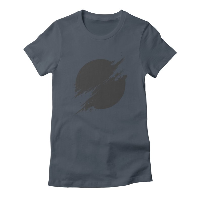 The Sun is Black Women's Fitted T-Shirt by Sitchko