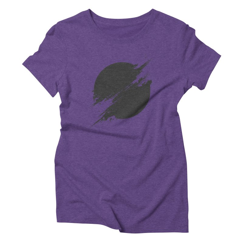 The Sun is Black Women's Triblend T-Shirt by Sitchko