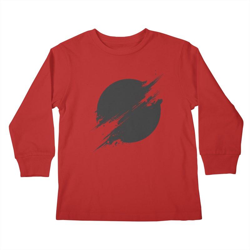 The Sun is Black Kids Longsleeve T-Shirt by Sitchko