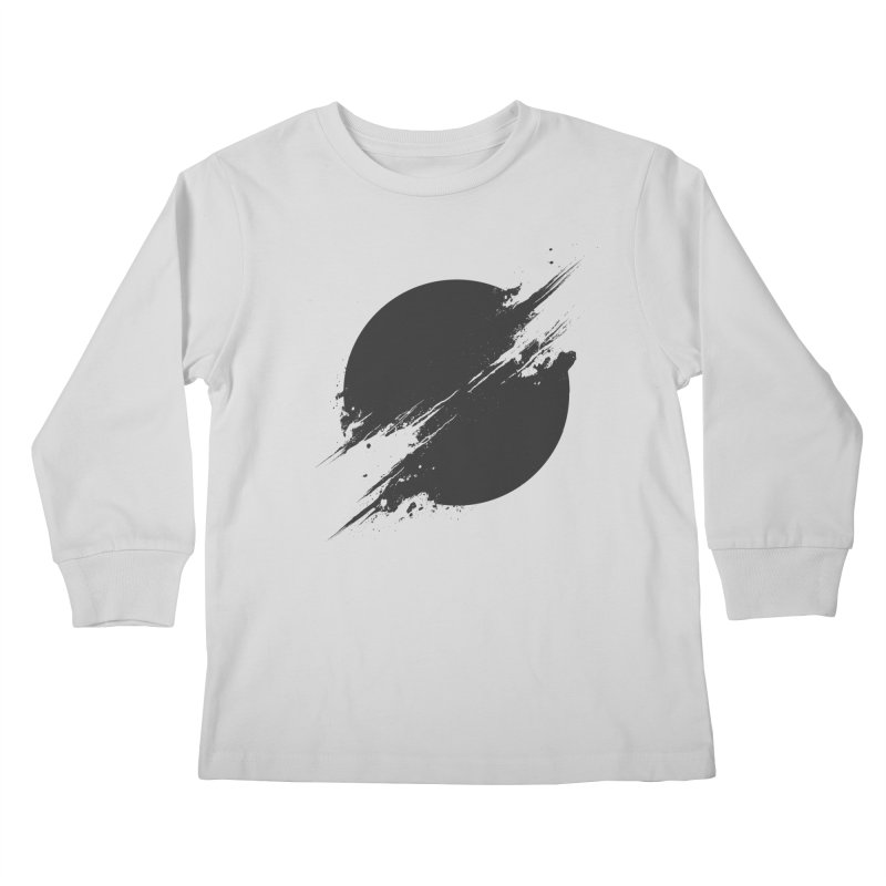 The Sun is Black Kids Longsleeve T-Shirt by Sitchko