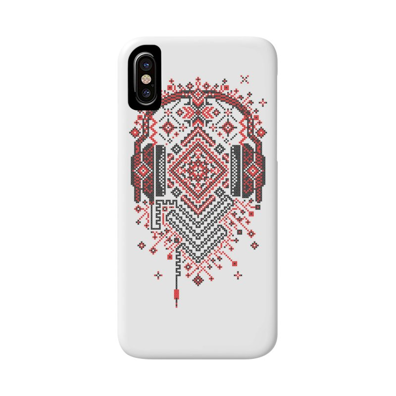 Headphones Ornament Accessories Phone Case by Sitchko