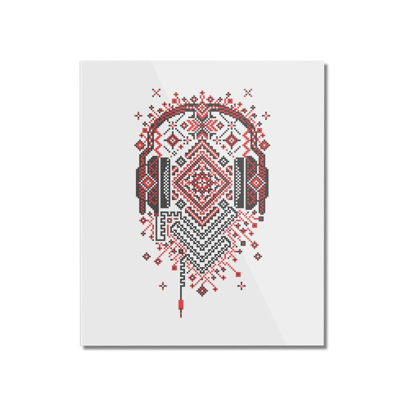 Headphones Ornament Home Mounted Acrylic Print by Sitchko