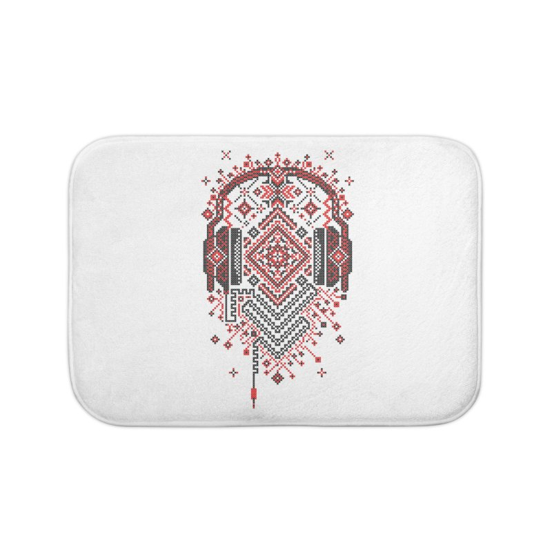 Headphones Ornament Home Bath Mat by Sitchko