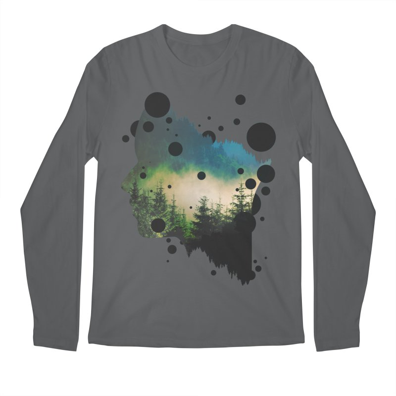 Face Of the Forest Men's Longsleeve T-Shirt by Sitchko