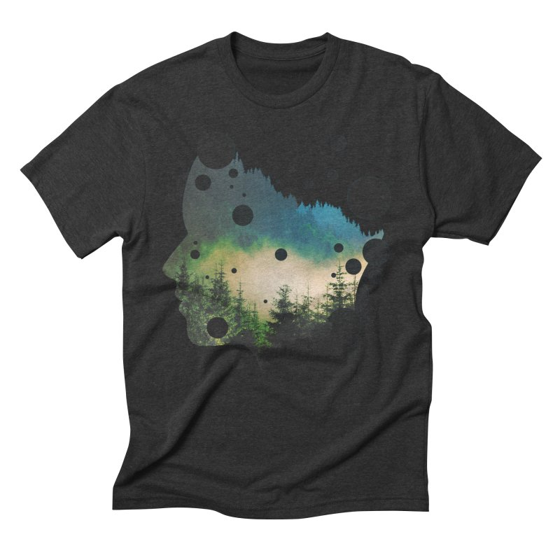 Face Of the Forest Men's Triblend T-Shirt by Sitchko