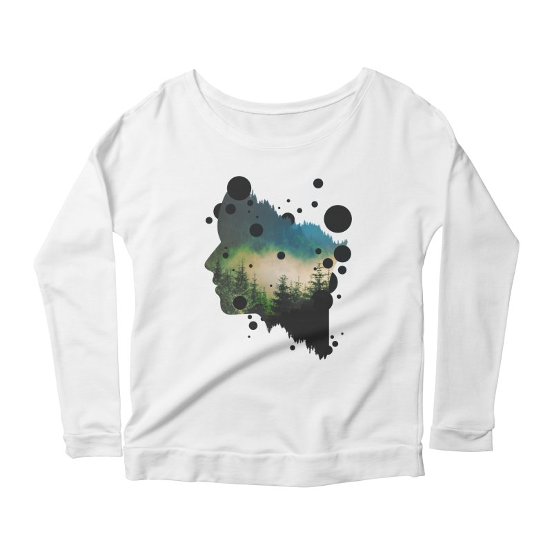 Face Of the Forest Women's Longsleeve Scoopneck  by Sitchko