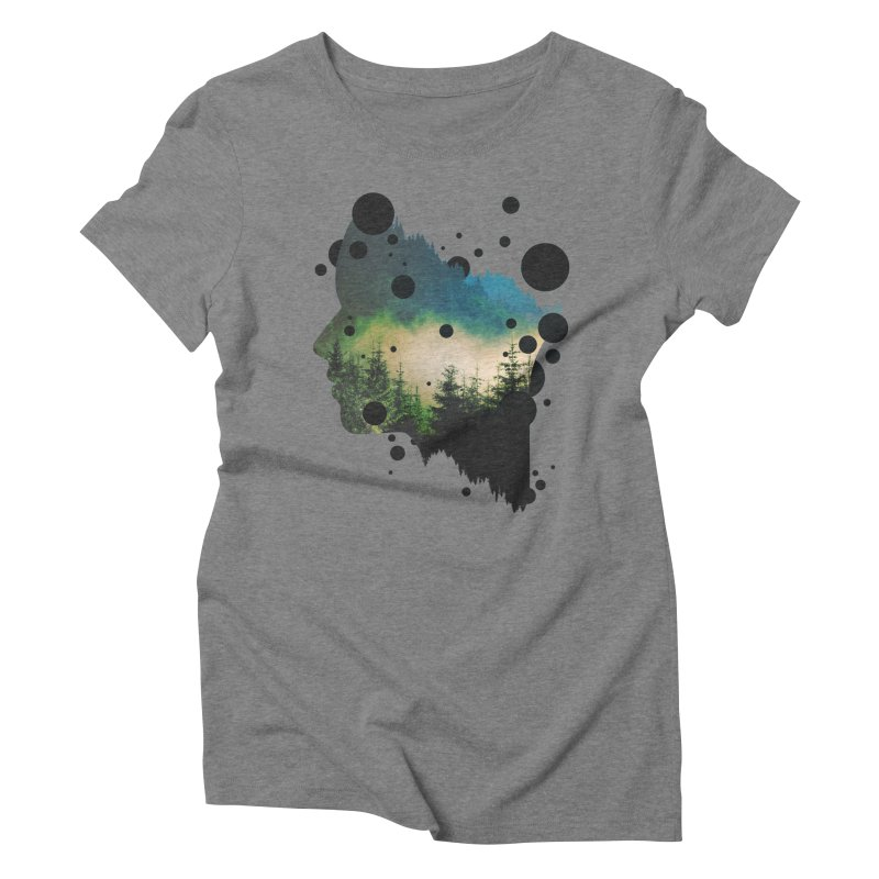 Face Of the Forest Women's Triblend T-Shirt by Sitchko