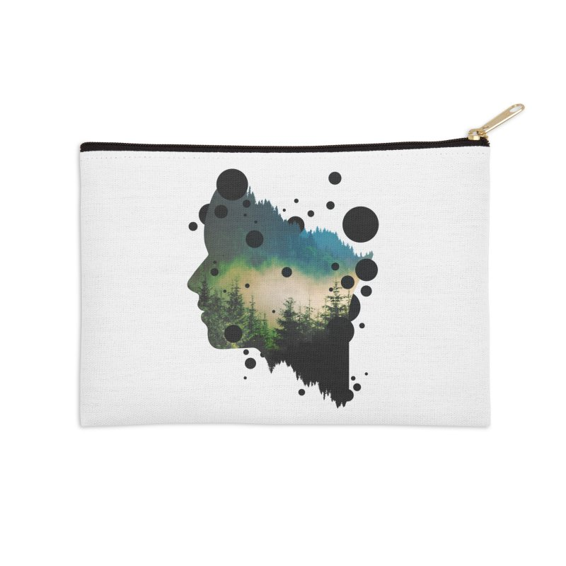 Face Of the Forest Accessories Zip Pouch by Sitchko