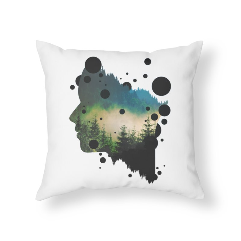Face Of the Forest Home Throw Pillow by Sitchko