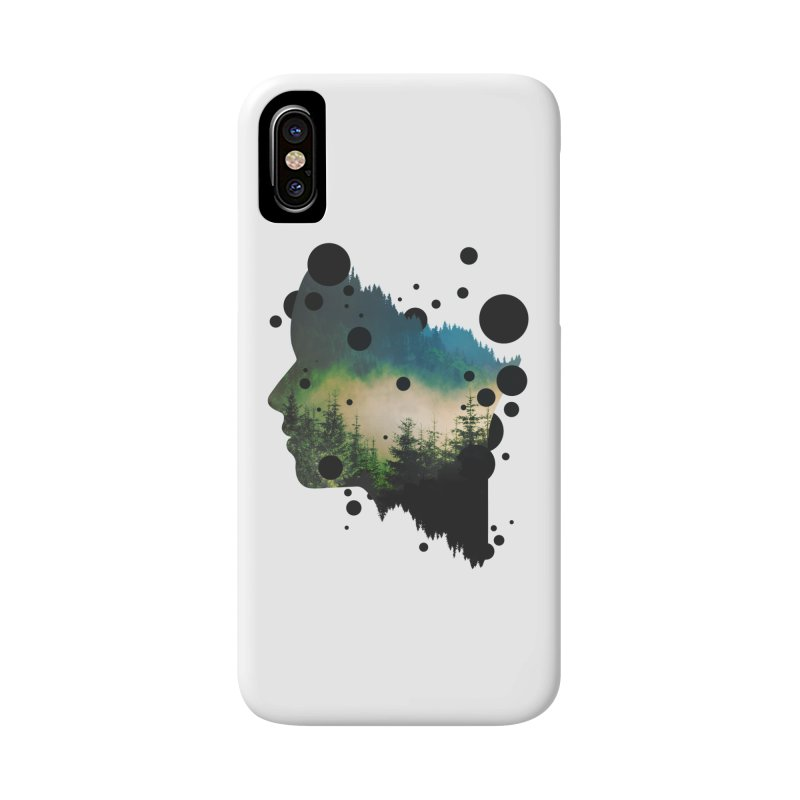 Face Of the Forest Accessories Phone Case by Sitchko