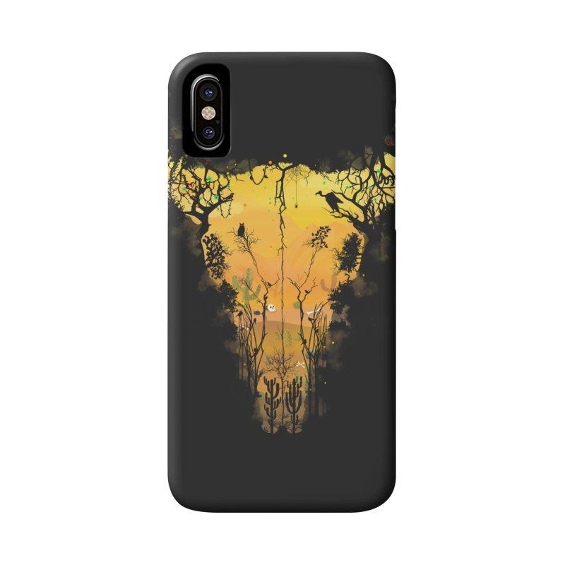 Dark Desert Cow Skull Accessories Phone Case by Sitchko