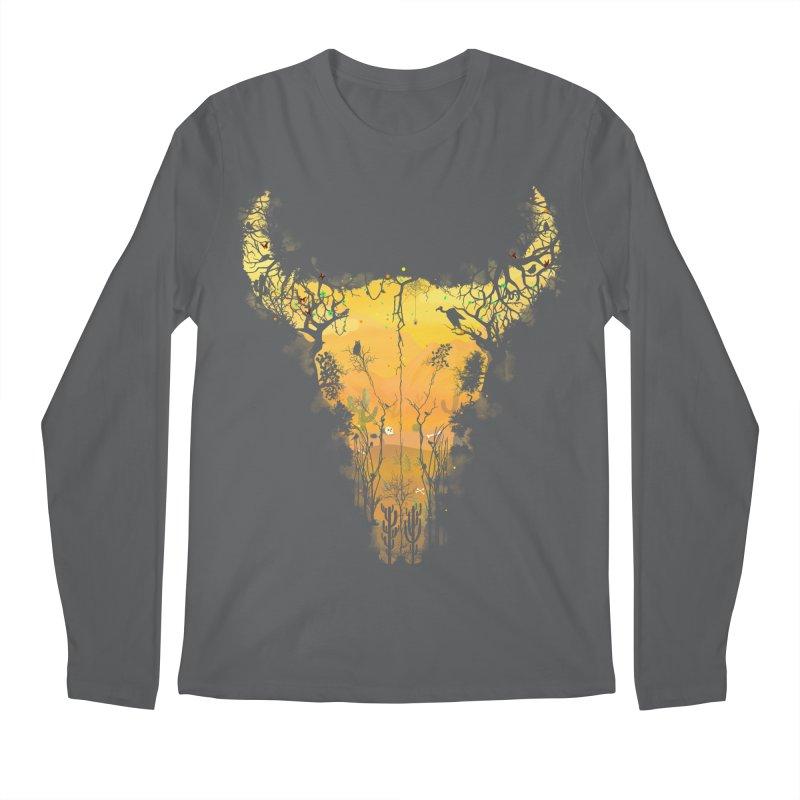 Dark Desert Cow Skull Men's Longsleeve T-Shirt by Sitchko