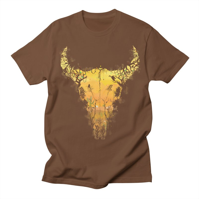 Dark Desert Cow Skull Women's Regular Unisex T-Shirt by Sitchko
