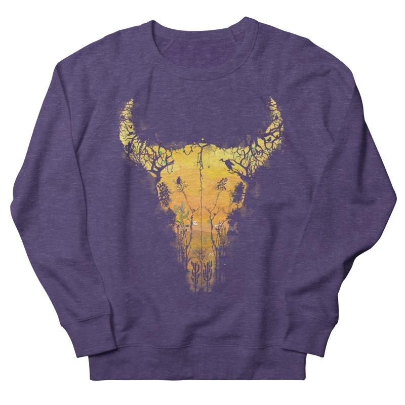 Dark Desert Cow Skull Women's Sweatshirt by Sitchko
