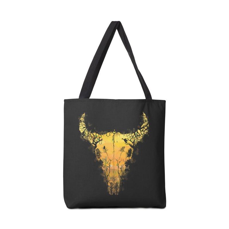 Dark Desert Cow Skull Accessories Bag by Sitchko