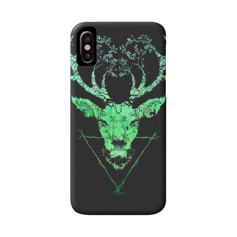 Dark Forest Deer Accessories Phone Case by Sitchko