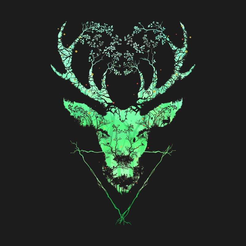Dark Forest Deer by Sitchko